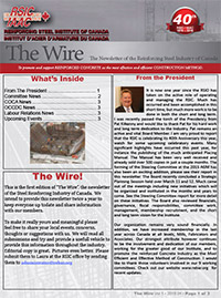 The Wire - The Newsletter of the Reinforcing Steel Industry of Canada - 2016 Edition 1