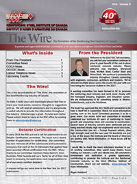 The Wire - The Newsletter of the Reinforcing Steel Industry of Canada - Volume 2""